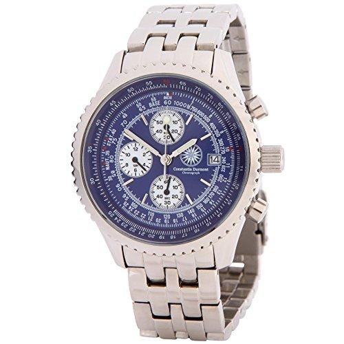 Constantin Durmont hombre-reloj cronógrafo de cuarzo acero inoxidable Navigator CD-NAVI-QZ-ST-STST-BL