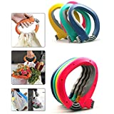 One Trip Grip Bag Handle Grocery Carrier Holder Carry Multiple Plastic Bags Lock (Multicolor)