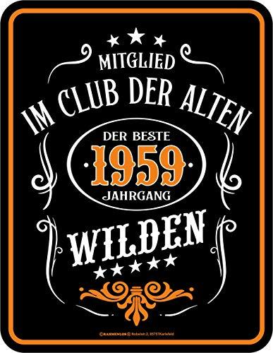 schild zum 60. Geburtstag Mitglied im Club der Alten Wilden ()
