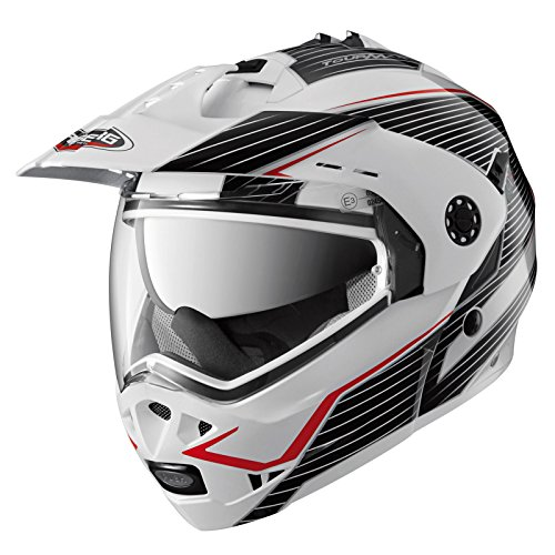 Caberg Tourmax Sonic Motorcycle Helmet XS White Black Red