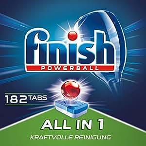 Finish All in 1 Quartalspack, Spülmaschinentabs für 3 Monate, Gigapack, 182 Tabs