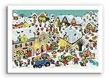 Winterferien - Wimmelposter von Marion Krätschmer in DIN A2