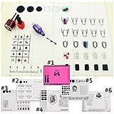 Nacido Pretty 1pc Stamping Nail Práctica Para Colorear Pad alfombrilla de las uñas de silicona plantilla uñas arte manicura herramienta