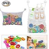 Bad Spielzeug Netz, 2 x Badewanne Spielzeugnetz, Badezimmer Lagerung, Badewannennetz für Badespielzeug, Badorganizer,Mesh Bad Spielzeug Organizer, Multi-Use-Dusche Taschen machen