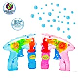 Laeto Toys & Games Light Up Bubble Guns with No Batteries Required Ideal