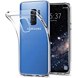 Galaxy S9 PLUS Hülle - vau SoftGrip Case - Handy Schutz-Hülle Silikon Rückseite (transparent clear)
