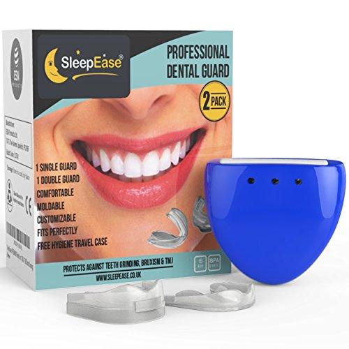 SleepEase PREMIUM Nachtzahnspange! SCHLUSS MIT ZÄHNEKNIRSCHEN! 2 verschiedene Zahnknirsch-Schützer – mit Wissenschaftlern entwickelt – zum Verhindern von Zähneknirschen, Bruxismus und Schnarchen