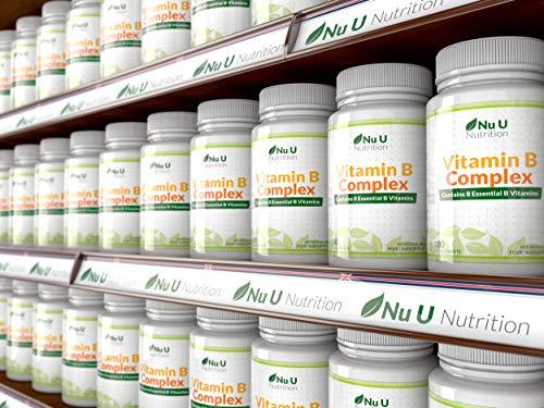 Vitamin B-Komplex – alle 8 B-Vitamine in einer Tablette – Vitamine B1, B2, B3, B5, B6, B12, D-Biotin & Folsäure – 6-Monats-Versorgung – 180 Tabletten – Nahrungsergänzungsmittel von Nu U Nutrition - 9