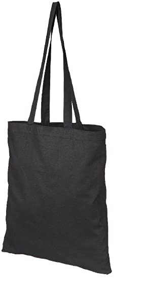 NATURAL COTTON TOTE SHOPPER BAG - 3 COLOURS - LOW PRICE (BLACK ...