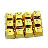Tiptiper Conjunto tecla clave, teclado mecánico Caps PBT Chapado de 12pcs para la máquina de juego