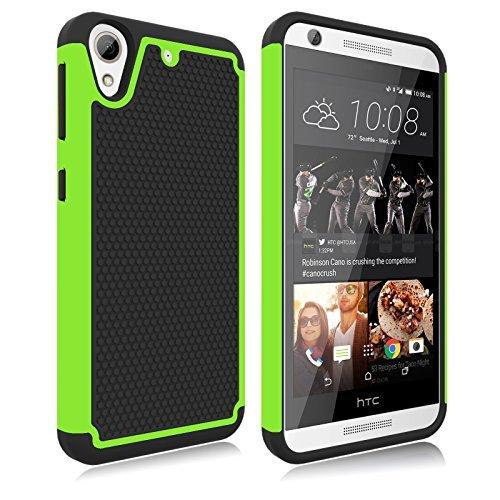 HTC Desire 626s Fall, HTC Desire 626Fall, zectoo Hybrid Bumper stoßfest Dual Layer Rüstung Defender Protective Cute Slim Harte Rückseite Schutzhülle für HTC Desire 626/626s, Grün/Schwarz Htc Touch Defender Case