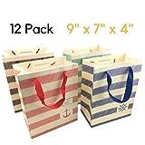 Sacchetti regalo - 12 pezzi Shopping di Natale sacchetto di carta, regalo di compleanno del partito Borse [23 x 18 x 10 cm]
