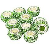 Contever® 10 Beads Swaroski cuenta cristal Pare joyas Pandora pulseras Collares - Verde