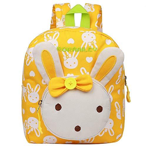 EGOGO Kaninchen Tiere Babyrucksack Kindergartenrucksack , Mädchen Kindergartentasche Backpack Schultasche Kinder Rucksack E525-1 (Gelb) -