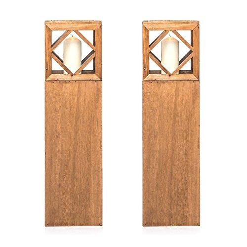 Pajoma Laterne Rügen, Natur, 2er Set aus Holz, H 74,5 cm