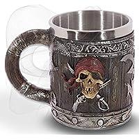 mtb more energy Jarra Hell's Grog - Imitación a madera con un cráneo del pirata - bucaneros fantasía fantástico Caribe