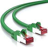 deleyCON PREMIUM 5m CAT 6 cavo patch Gigabit LAN DSL cavo di rete - Schermatura S/FTP - collegamenti dorati - RJ45 presa - [verde]