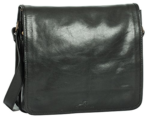 Cavallo Scuro , Borsa Messenger  Unisex �?Adulto Medium - Black