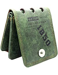 e9ce821289 AlexVyan Bovi's Green Leather Premium Stylish Bi Fold Wallet Men's Gents  Boy's Wallet Purse
