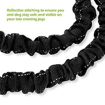 Pecute Hundeleine Doppelleine 2 Hunde Reflektierende Elastische Nylonband 1.6 M Schwarz 13