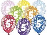 Multiproject 10 Luftballons Party Geburstag Happy Birthday Jahrestag 12' (Zahl 5)