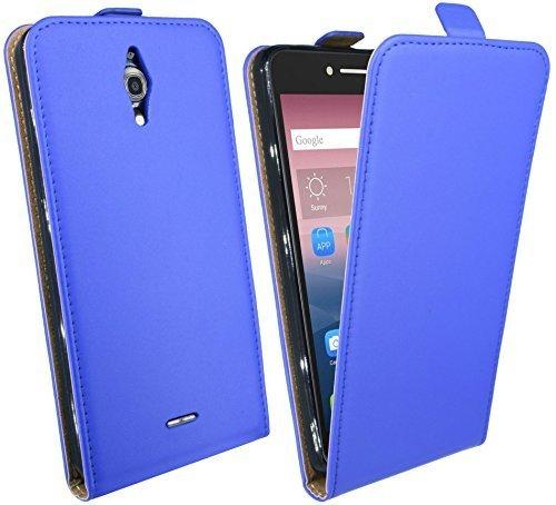 ENERGMiX Klapptasche Schutztasche für Alcatel Pixi 4 (6.0 Zoll) in Blau Tasche Hülle