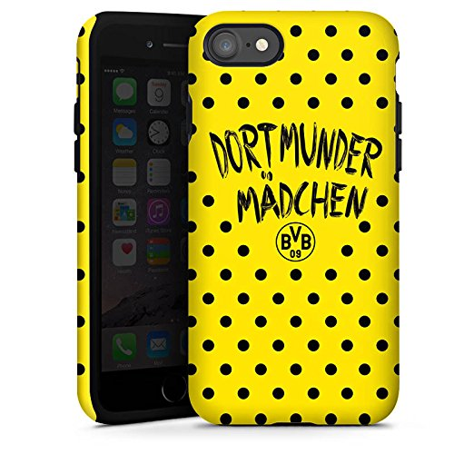 Apple iPhone X Silikon Hülle Case Schutzhülle Dortmunder Mädchen Borussia Dortmund BVB Tough Case glänzend