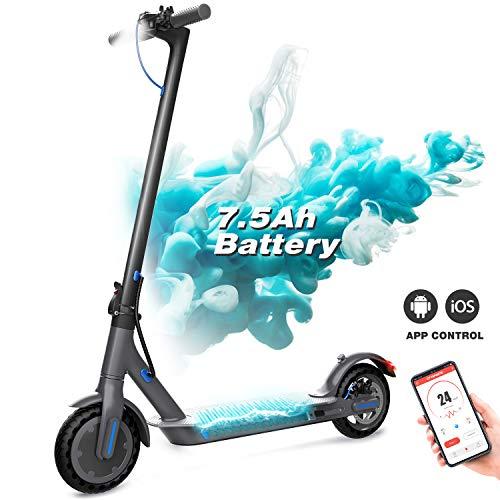 Elektroroller, faltbarer E-Scooter, Stadtroller mit LCD-Display / 7,5 A Li-Ion Akku / APP / Bluetooth / Ultraleichter Elektroscooter für Erwachsene