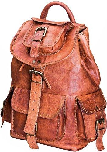 Leder Rucksack für Herren Damen Unisex Handgefertigt Leder Tasche Messenger Tasche Virgin Reisetasche Leder Rucksack Boardtasche