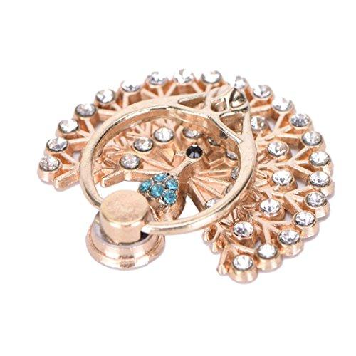 sundatebe Pfau Metall Diamant Fashion 360Grad Finger Ring Handy Ständer - Finger-ring Lichter
