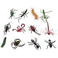 D DOLITY 12pcs Insectes Réalistes Faune Animaux Marins Figures Jouet pour Enfants Cadeau D'anniversaire