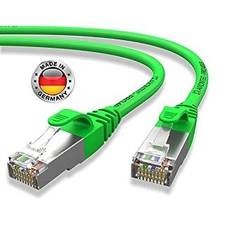 AIXONTEC® I Netzwerk-Kabel Cat6 15m Grün Patch-Kabel Ethernet-Kabel Powerlan Gigabit Ethernet Kupfer pimf Twisted-Pair-Kabel rj45 Kabel I Switch Router Server PC Laptop Scanner Access Point Modem