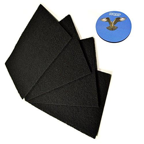 Holmes Filter Carbon (HQRP 4-Stück Carbon Filter C für Holmes Luftreiniger / HAPF60 Luftreiniger + HQRP Unterzetzer)
