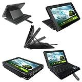 igadgitz 'Guardian' Noir Étui Housse en Cuir PU pour Asus Eee Pad Transformer Prime & Dock Clavier TF300 TF300T 10.1' Android Tablet