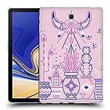Head Case Designs Offizielle Cat Coquillette Rosa Santa Fe Garden Linear Soft Gel Hülle für Samsung Galaxy Tab S4 10.5
