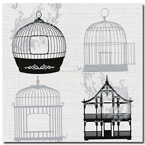 Tapeten Vogelkäfig Nachtigall asiatisches Design