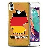 Stuff4® Hülle/Case für HTC Desire 10 Pro/Deutschland/Deutsch Muster/Flagge Land Kollektion