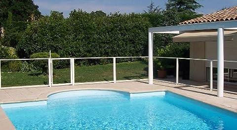 Chalet-Jardin 24PANNEAU200DROIT/ANGLE Barrière de Protection pour Piscine Panneau Transparent 196 x 112 cm
