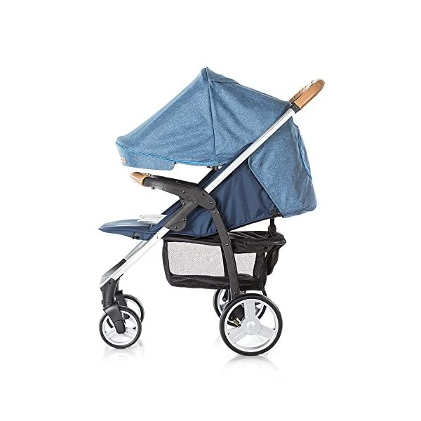 Chipolino Baby Stroller and Carry Cot Avenue, Navy Chipolino Can also be transformed into a carry cot Comfortable upholstered carrycot with mattress and carry handle Single front swivel lockable wheels 5