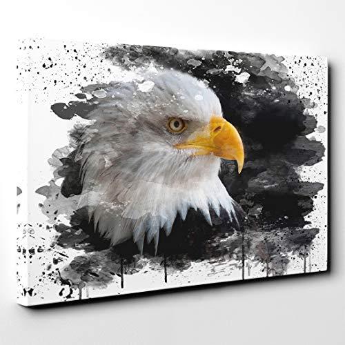 Arty Pie Canvas Print 30 x 20 Inch (76 x 50 cm) Bald Eagle V3, Wood, Multi-Colour, 76 x 50 x 3 cm (Bald Eagle Artwork)