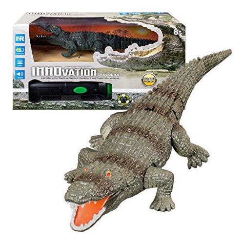 Global Gizmos 138.836,4cm batteriebetrieben Infrarot Taschenlampe Fernbedienung Krokodil Lichter und Sound Spielzeug (Hat Santa Up Light)