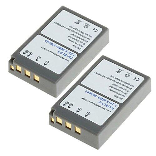 2x CELLONIC® Batería premium para Olympus Stylus 1 OM-D E-M10 E-450 Pen E-PL5 BLS-5 Pen E-PM2 Pen E-PL6 (900mAh) BLS-5 bateria de repuesto, pila reemplazo, sustitución