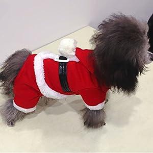 PETCUTE Animal de Compagnie Noël Costumes Chien Costume Avec cap Papa Noël Hoodies Cat Xmas Apparel Gift Manteau d'hiver