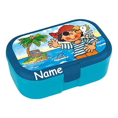 Lunchbox * PIT PLANKE plus WUNSCHNAME * für Kinder von Lutz Mauder // Piraten Brotdose mit Namensdruck // Perfekt für Mädchen & Jungen // Vesperdose Brotzeitbox Brotzeit (mit Namen)