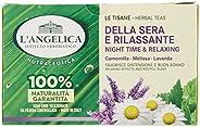 L'Angelica, Tisana Funzionale Calmante e Rilassante per Dormire a Base di Camomilla e Passiflora, Tisane c