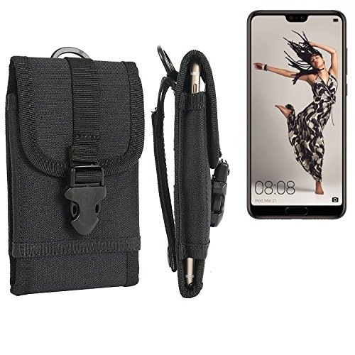 K-S-Trade Handyhülle für Huawei P20 Pro Single-SIM Gürteltasche Handytasche Gürtel Tasche Schutzhülle Robuste Handy Schutz Hülle Tasche Outdoor schwarz
