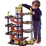 H-Molto Parkgarage mit 7 Ebenen, Tankstelle und Hubschrauberlandeplatz, 65x93 cm: Spielzeug Auto Garage Spielstrasse Spielzeugauto Parkhaus