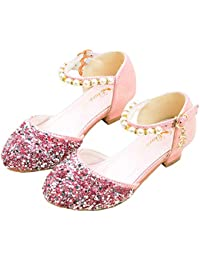 ee16daee7 Yzibei Fantasía Sandalias de Vestir de Princesa Kids Girls Glitter  Zapatillas de Baile de Fiesta de
