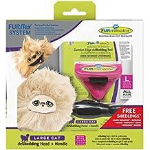 FURminator furflex, Cepillo Cuidado de Pelo para Grandes Gatos, deshedding de Herramienta para Eliminar