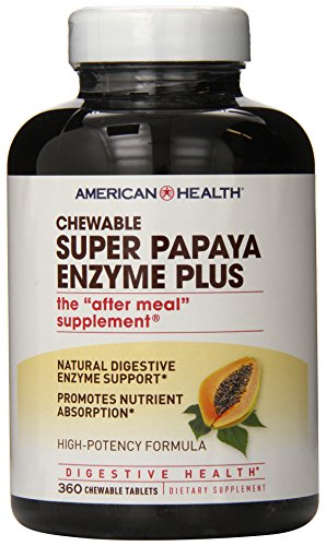 American Health, Super Papaya-Enzym Plus, 360 Kautabletten